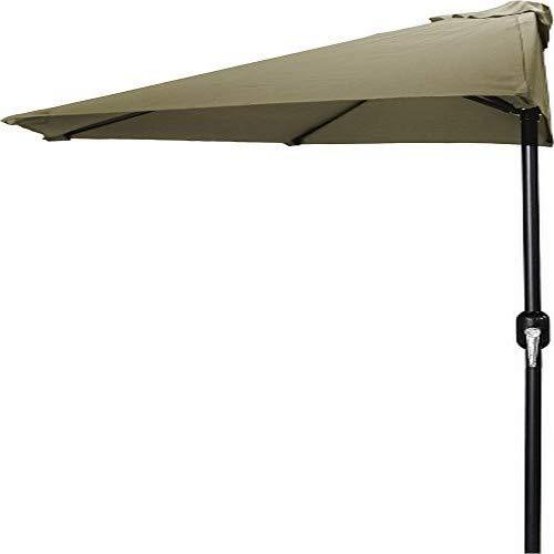Jordan Manufacturing USH904L-KHAKI Half Umbrella, 9', Khaki