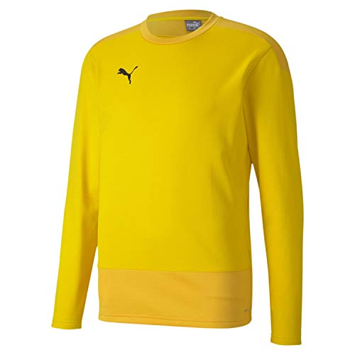 PUMA Herren teamGOAL 23 Training Sweat Pullover, Cyber Yellow-Spectra Yellow, M