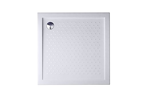 Durovin Bathrooms 900 x 900 x 40mm Shower Tray Anti Slip Surface Various Sizes -Acrylic Material - Square Shape