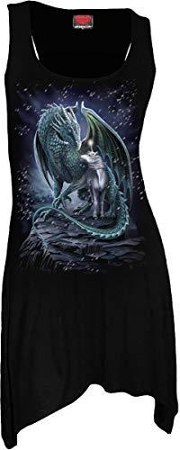 Spiral - Protector of Magic - Goth Inferiore Canotta Vestito Nero - Nero, S
