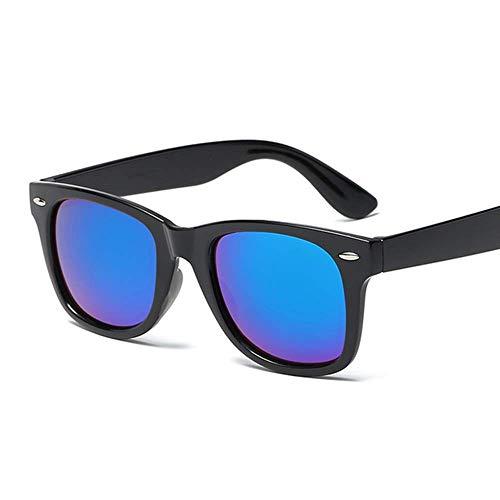 Lubier 1 Gafas de Sol polarizadas Reflectantes para Hombres y Mujeres, Gafas de conducción, Gafas de Sol de Montura Grande para Actividades al Aire Libre, Azul Oscuro, Medium