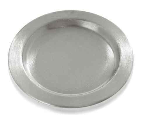 Kerzenteller Rund in silberfarbig 11 cm für Stumpenkerzen bis Ø 8 cm - 9040 - Metallteller - Dekoteller rund -Kerzenhalter