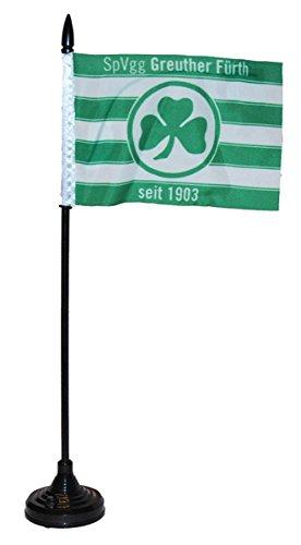 Flaggenfritze Tischflagge Sound SpVgg Greuther Fürth - 34 x 6 cm + gratis Aufkleber