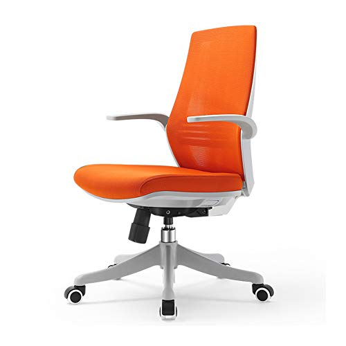 Asiento de escritorio de diseño ergonómico para escritorio o silla, tejido transpirable de malla que fija el reposabrazos fijo. Las patas de nailon. La rueda silenciosa de unidad central se puede aumentar y bajar.