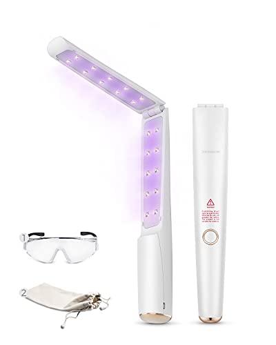 UV Light Sanitizer Wand, Portable UVC Light Disinfector Lamp Chargable...