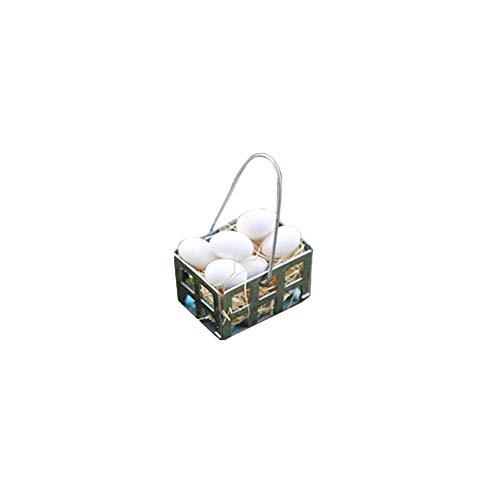 Qhtongliuhewu Huevos Blancos Miniatura Cesta Metal