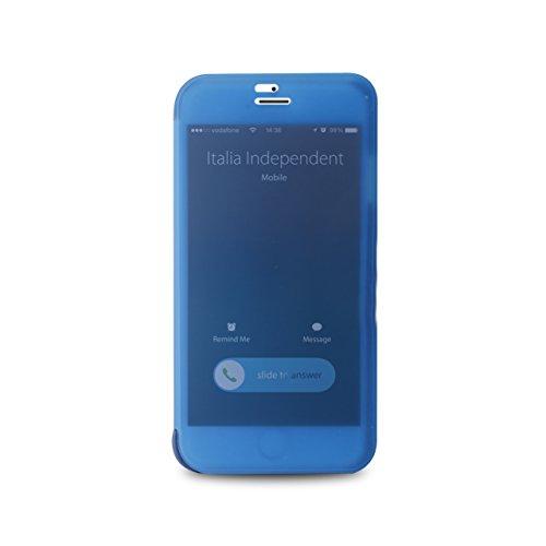 Italia Independent Book iPhone 6 Plus con Funzione Quick View E Answer Call Blu