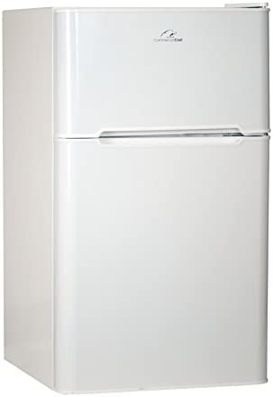 Commercial Cool CCRD32W Compact Double Door Refrigerator with True Freezer 3 2 Cu Ft Mini Fridge product image