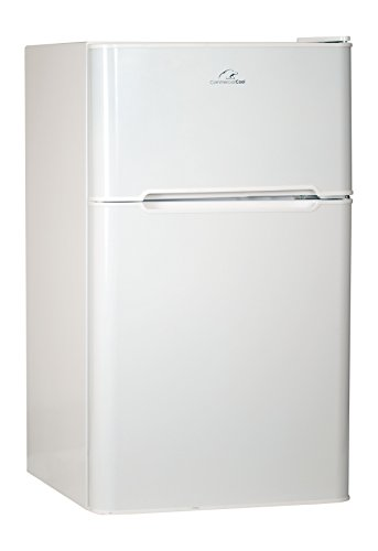 Commercial Cool CCRD32W Compact Double Door Refrigerator with True Freezer, 3.2 Cu. Ft. Mini Fridge,...