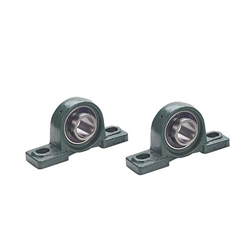 Othmro UCP206 Flanged Pillow Block Bearing, 30mm Bore Diameter,Bearing Steel Cast Iron Set Screw Lock 2pcs