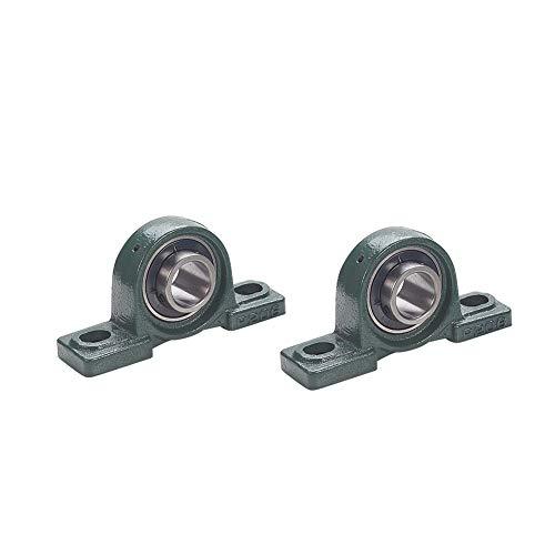 Othmro UCP206 Flanged Pillow Block Bearing, 30mm Bore Diameter,Bearing Steel Cast Iron Set Screw Lock 2pcs