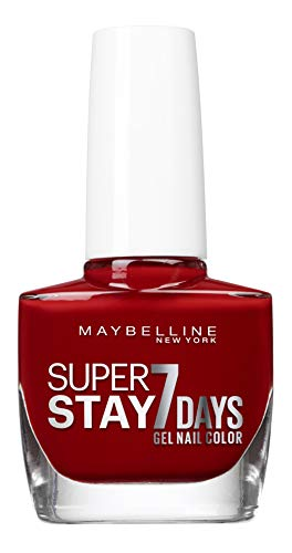 Maybelline New York – Vernis à Ongles Professionnel – Technologie Gel – Super Stay 7 Days – Teinte : Rouge Profond (06)