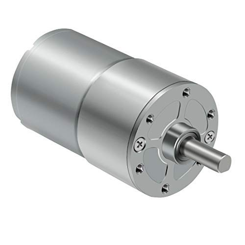 LMioEtool DC Gear Motor, High Torque Reversible Electric Geared Motor - with Centric Output Shaft Gearbox (12V/100RPM)