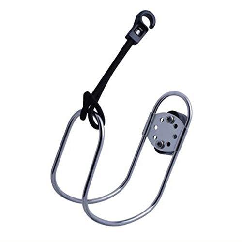 Lifebuoy - Soporte ajustable de acero inoxidable para herradura de barco, yate y salvavidas (resistencia a la corrosión y óxido) Tamaño libre plata