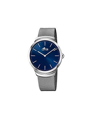 Reloj Lotus Minimalist- -18493/E- Reloj de Hombre con Pulsera de Acero milanesa y Esfera Azul