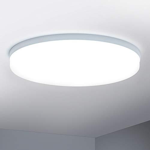 Combuh Plafón LED 48W 4320Lm Fácil de Instalar Modernos Lampara de Techo para Dormitorios Salones Cocina Blanco Frío 6500K Redondo Ø30CM