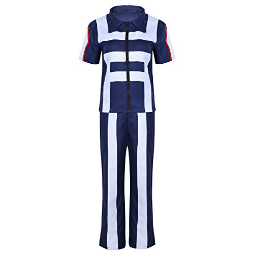 CHICTRY Anime Cosplay My Hero Academia Gimnasia Uniformes Disfraz Hombres Mujeres Unisex U A High School Gym Traje Ropa Deportiva Dos Piezas Azul X-Large