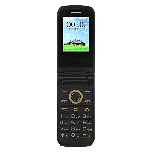 Teléfono Celular abatible Desbloqueado, 2.4 '', Botones Grandes, Fuentes Grandes, teléfono Celular abatible para Personas Mayores, 32 + 32 MB de RAM, Doble SIM, Altavoz de Volumen Alto(EU)