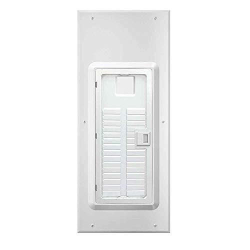 Leviton LDC30-W 30-Space Indoor Load Center Cover and Door with Observation Window, NEMA 1, Flush/Surface Mount,White