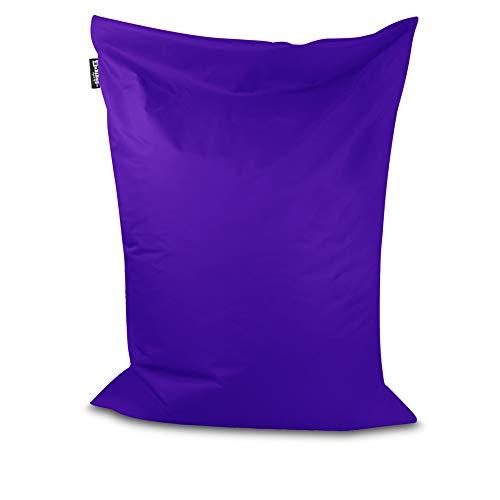 Sitzsack Beanbag rechteckige Bodenkissen 32 Farben & 4 Größen wählbar Indoor Outdoor Sitzsäcke Riesensitzsack Kindergarten Sitzkissen Schule Bean Bag ohne Rand (Lila-150x120 cm)