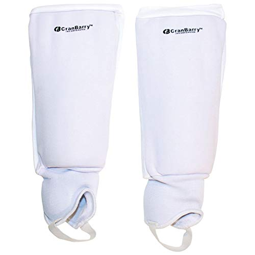 GRAYS CranBarry Deluxe Youth Field Hockey Shinguards Size: No Size White