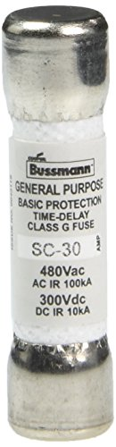 Bußmann sc-3030Amp Träge Class G Melamin Röhre, 600V Ul Listed