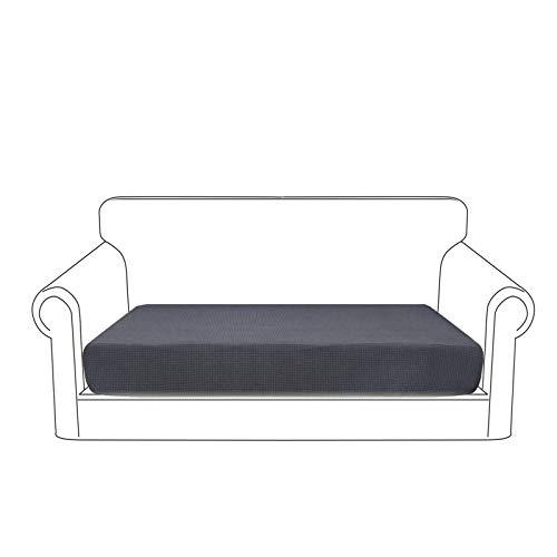 Granbest Fodera per cuscino di seduta per divano, impermeabile, in tessuto jacquard ad alta elasticità, colore: grigio, 2 posti