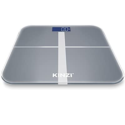 Kinzi Precision Digital Bathroom Scale w/ Extra Large Lighted Display, 400 lb Capacity, Step-On Technology(2016 Version)