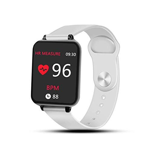 Smart watches Waterproof Sports Suitable for iphone phone Smartwatch Blood Pressure Functions For Women men kid, White