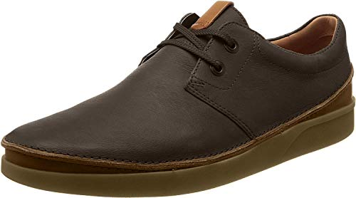 Clarks Oakland Lace, Scarpe Stringate Derby Uomo, Marrone (Dark Brown Leather -), 43 EU