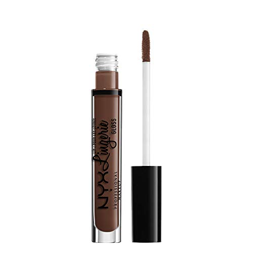 NYX Professional Makeup Lipgloss - Lip Lingerie Gloss, schimmernder Gloss in Nude, für...