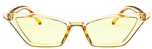 LOPIXUO Gafas de sol Gafas de sol para mujer, pequeñas, vintage, gafas de sol, retro, amarillas, para mujer, gafas de sol, sombras femeninas, como en la imagen