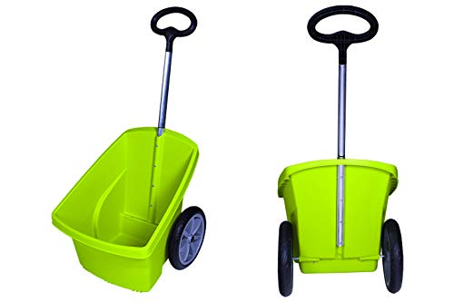 Ondis24 Transportkarre für Brennholz Zweirad Kunststoff Gartenkarre Trolley Carrellino 67 Liter
