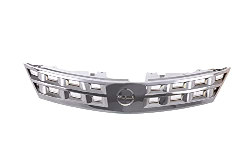 JustDrivably Replacement Parts Front Grille Grill Assembly With Chrome Frame Shell With Chrome Insert Compatible With Nissan Murano SE SL 2003 2004 2005 Compatible With Nissan Murano S 2005