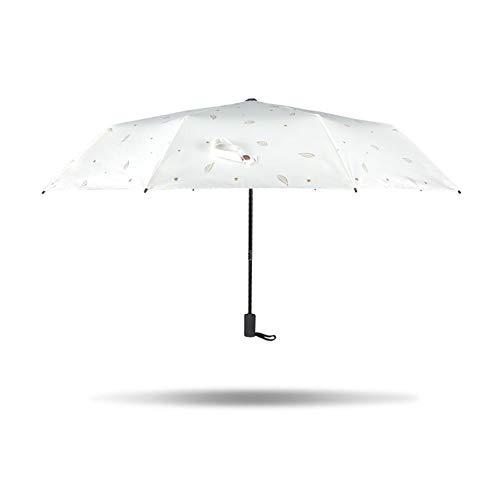 BAIXL Paraguas Plegable Vogue, Compacto Prueba De Viento Protección De Plástico UV...