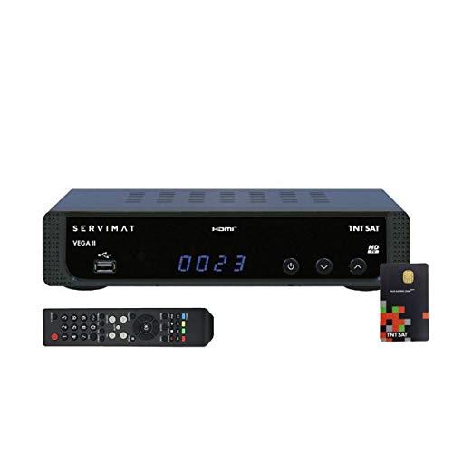 Receptor TV Satélite HD + Tarjeta de acceso TNTSAT V6 Astra 19.2E
