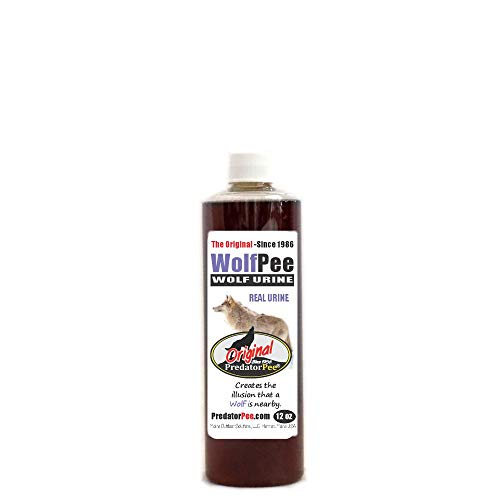 Predator Pee 100% Wolf Urine - Territorial Marking Scent - Creates Illusion that Wolf is Nearby - 12 oz