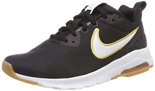 NIKE Wmns Air MAX Motion LW Se Zapatillas, Mujer, Negro (Black/White-Gum Light Brown 010), 37.5 EU