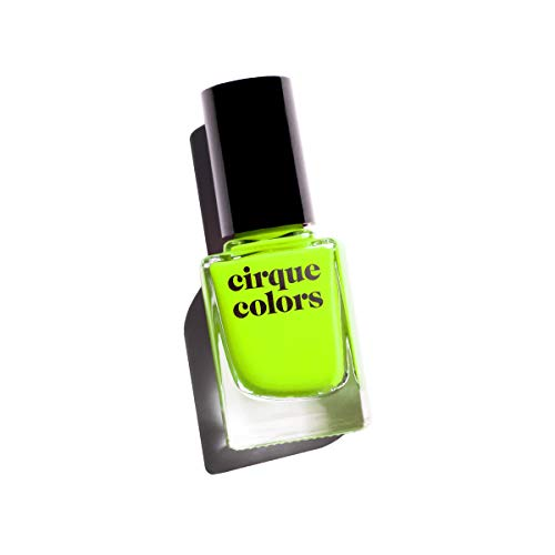 Cirque Colors Vice Collection - Neon Highlighter Yellow Crème Nail Polish - 0.37 fl. oz. (11 ml) - Vegan, Cruelty-Free, Non-Toxic Formula (Electric Daisy)