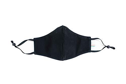 Dress City Mask Mascherina Lavabile Regolabile (nera)