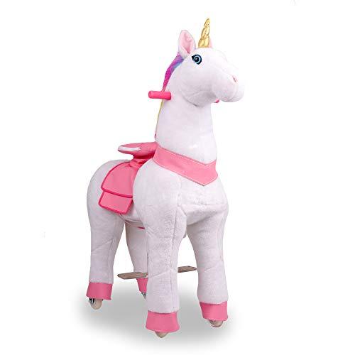 Pony Rider Ride On Unicorn Pony - Giddy up Unicorn Pony Plush - Unicorn Pony - Age 3+