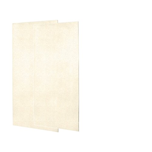 Swanstone SS0367202.072 Solid Surface Glue-Up 2-pieces Shower Wall Panel, 0.25-in L X 36-in H X 72-in H, Pebble