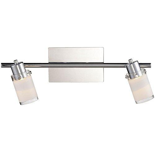 2x 4,2 Watt LED Decken Wand Spot Chrom schwenkbar Esszimmer Tisch Leuchte Esto 761002-2
