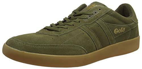 Gola Herren INCA Suede Sneaker, Grün (Khaki/Khaki/Gum NN), 45 EU