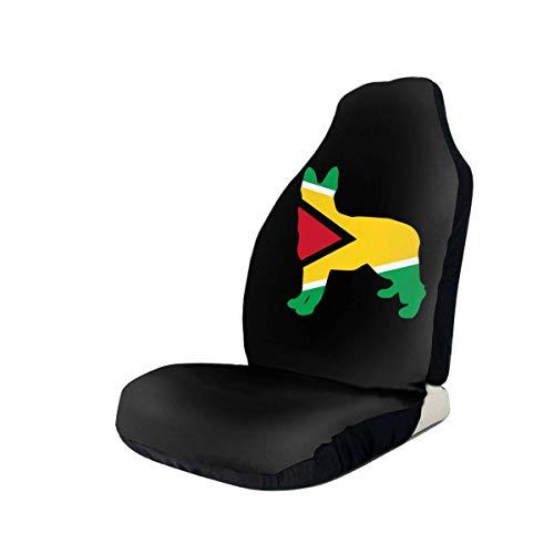 Preisvergleich Produktbild Sobre-mesa Deutscher Schäferhund Guyana Flag Autositzbezug Set Universal Fit Die meisten Geländewagen Van Sedan 1Pcs / 2Pcs