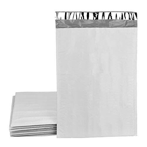 FEIGO 10 sobres acolchados con burbujas de aire, de polietileno, DIN A4, sobres acolchados (25 x 35 cm), color gris