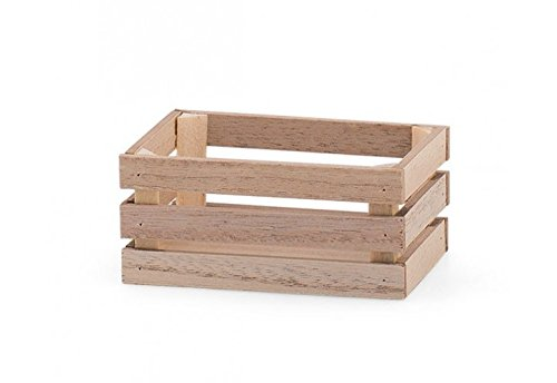 Lotto pezzi 24 Bomboniera scatola cassettina in legno (cm 9x6x4) portaconfetti, segnaposto (g3scb23061m)