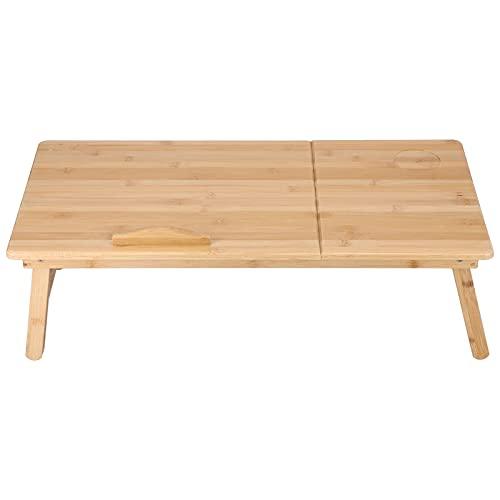 WESE Mesa para Ordenador portátil, Mesa Ideal, Mesa de Cama portátil, Exquisita artesanía para estudiar, Sala de Lectura Nocturna