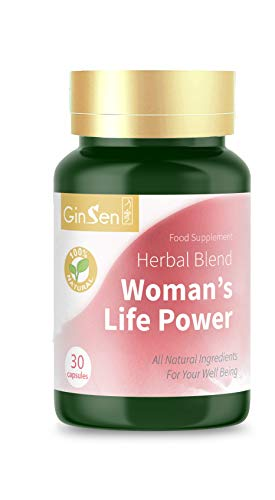 GinSen Woman's Life Power Helps Egg Quality & Quantity, FHS, AMH, Irregular Periods, Irregular Ovulation, Conceive Naturally, PCOS, Natural Fertility Supplement, Chinese Medicine (30 Caps)