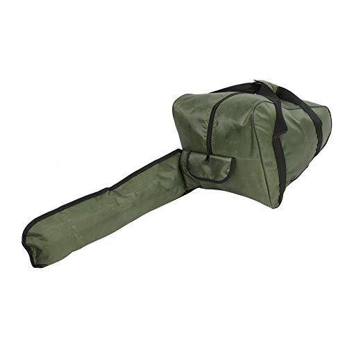 Bolsa de transporte impermeable para motosierras de tela Oxford de alto rendimiento, bolsa de herramientas portátil con cremallera larga para leñadores (ArmyGreen, 22 pulgadas)